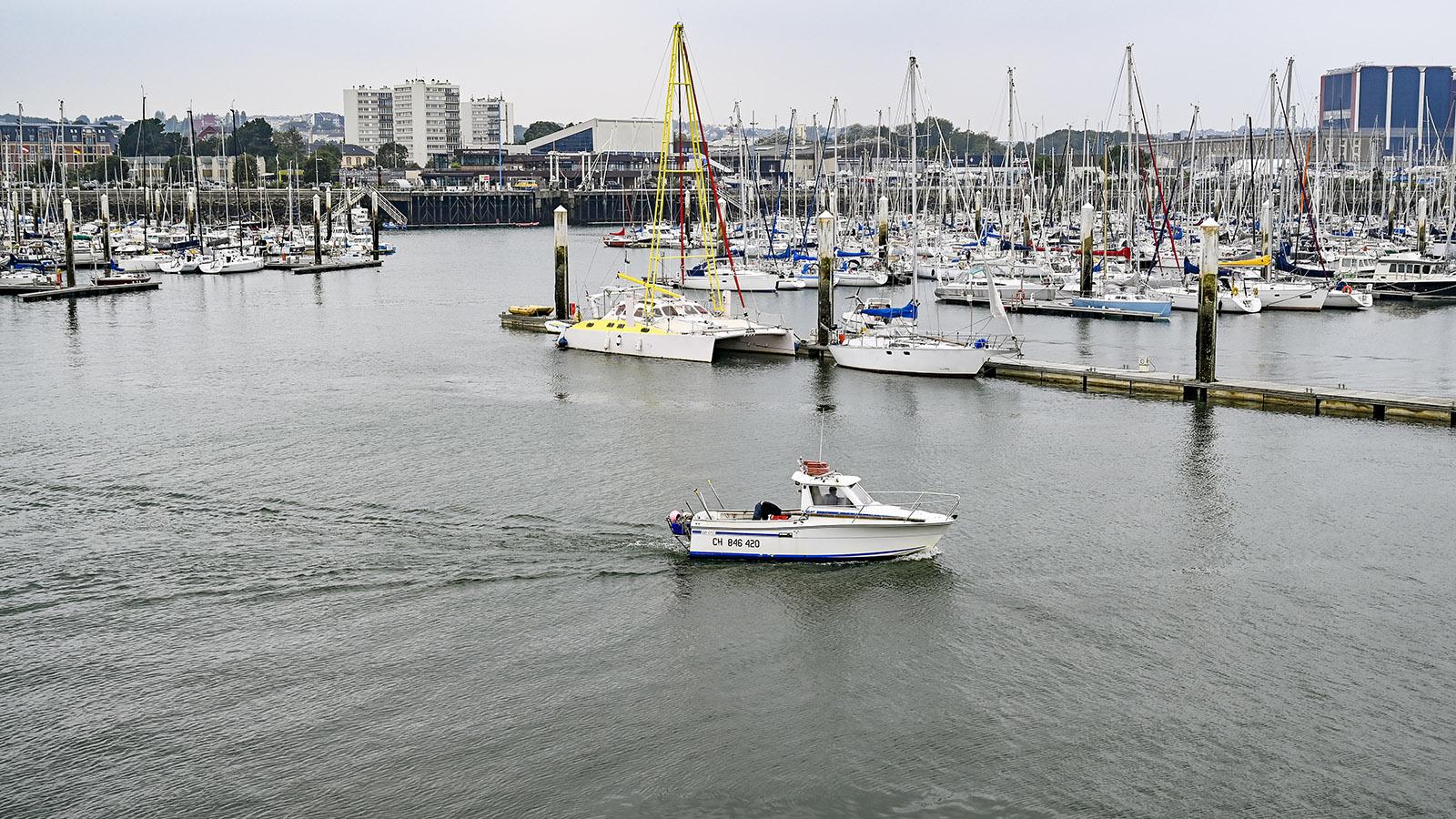 Cotentin: Der Hafen von Cherbourg. Foto: Hilke Maunder