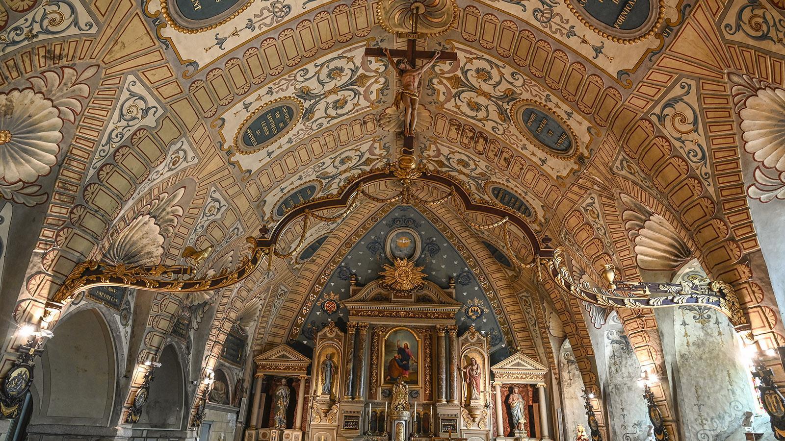 Cotentin: das Innere der Kirche von Saint-Pierre. Foto: Hilke Maunder