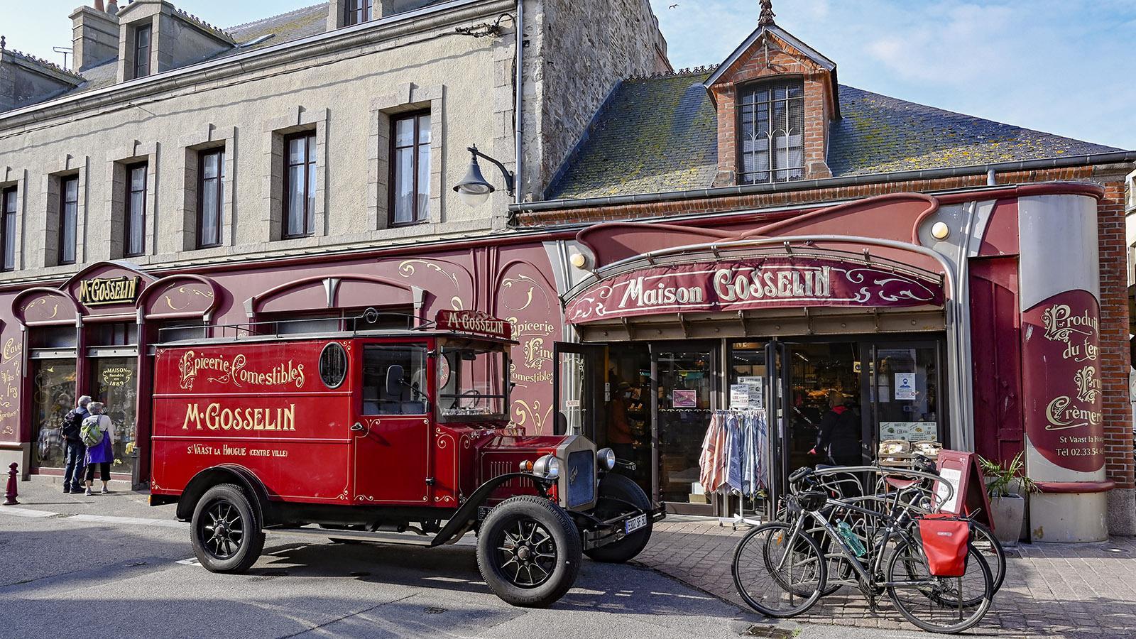 Der Feinkostladen Maison Gosselin in der Hauptgeschäftsstraße des Ortes. Foto: Hilke Maunder