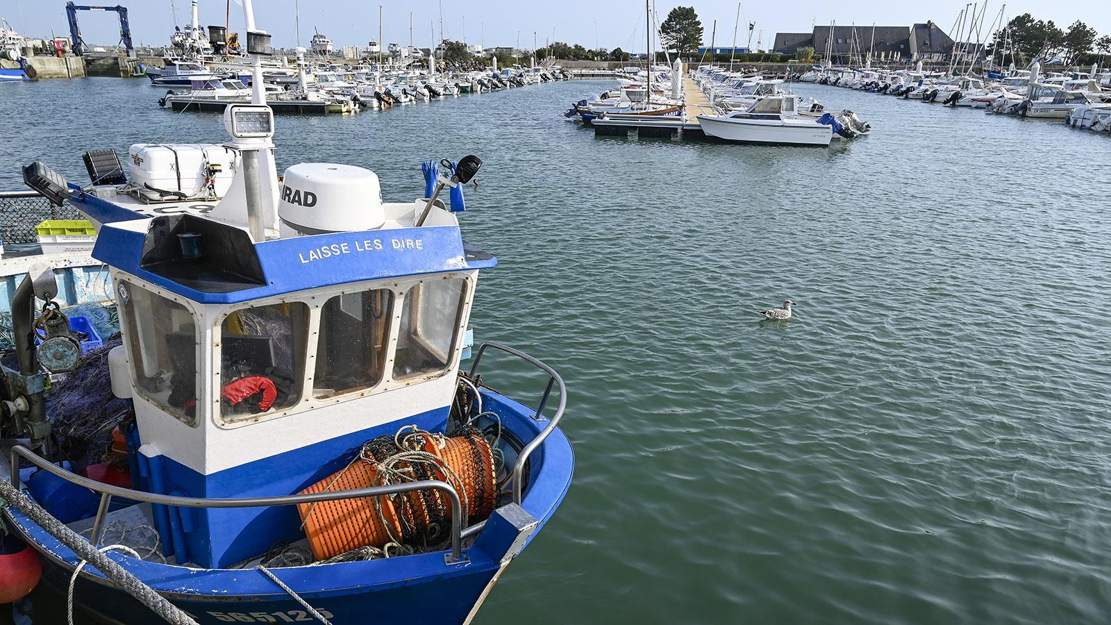 Laisse les dire, lass sie nur reden… so heißt dieses Fischerboot. Foto: Hilke Maunder