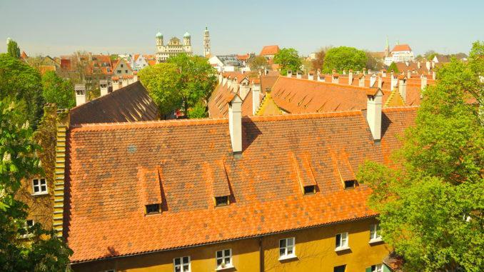 Augsburg: Blick über die Fuggerei. Foto: Augsburg Regio Tourismus