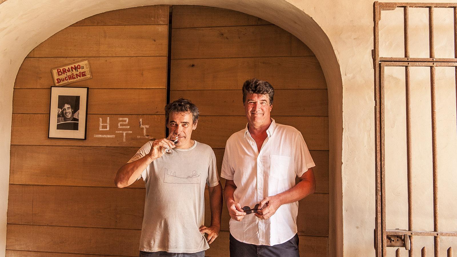 Banyuls: Yann Sola (r.) mit Bruno Duchêne. Foto: Hilke Maunder