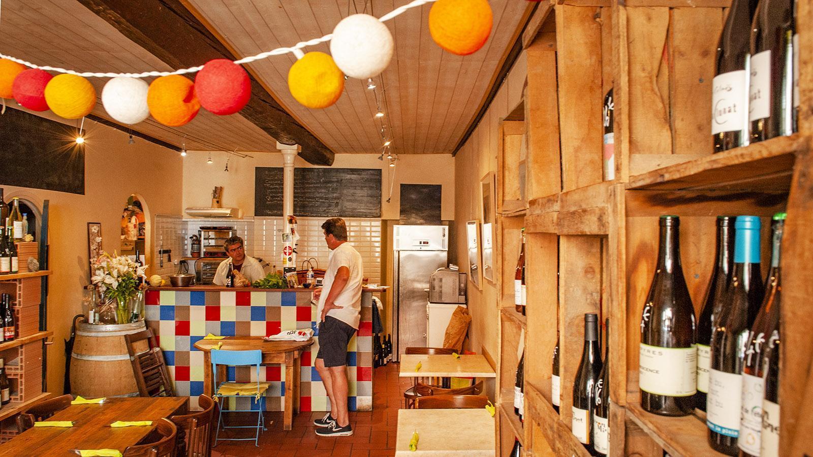 Banyuls: Eine Lieblingsadresse von Yann Sola: der kleine Bistro-Weinhandel El Xadic del Mar. Foto Hilke Maunder