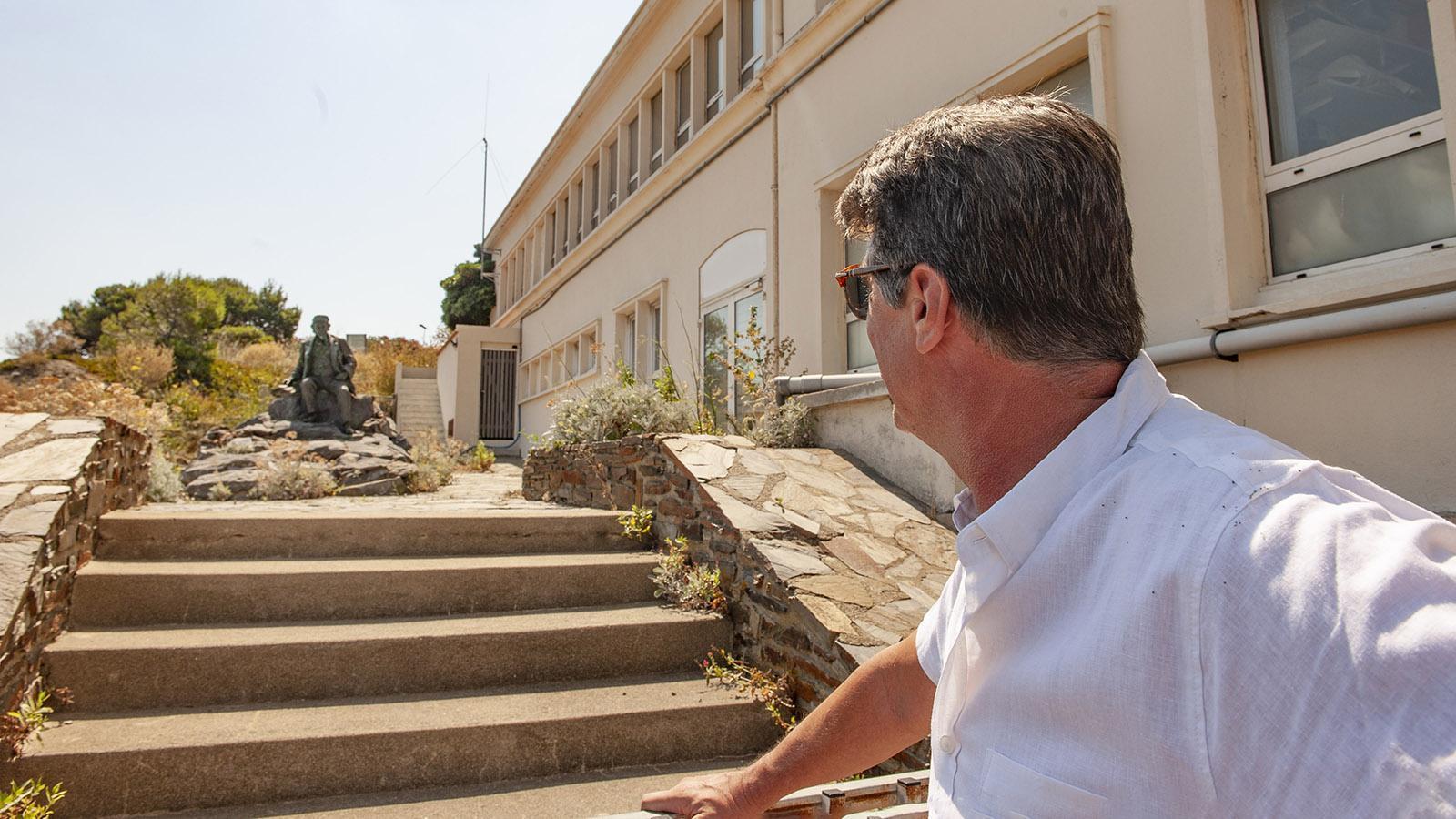 Banyuls: Abgesperrt im Abseits: der Gründer des Institut d'Arago. Foto: Hilke Maunder