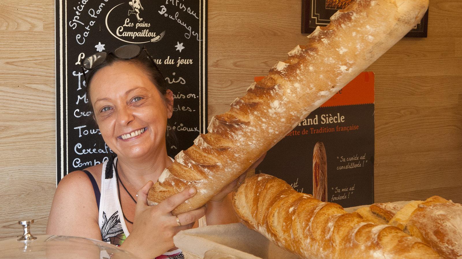 Banyuls: Yann Sola ist Stammkunde in der Boulangerie von Audrey Dominique. Foto: Hilke Maunder