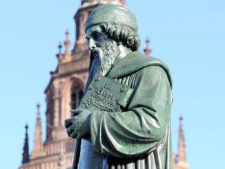 Mainz: Gutenbergdenkmal. Foto: Landeshauptstadt Mainz