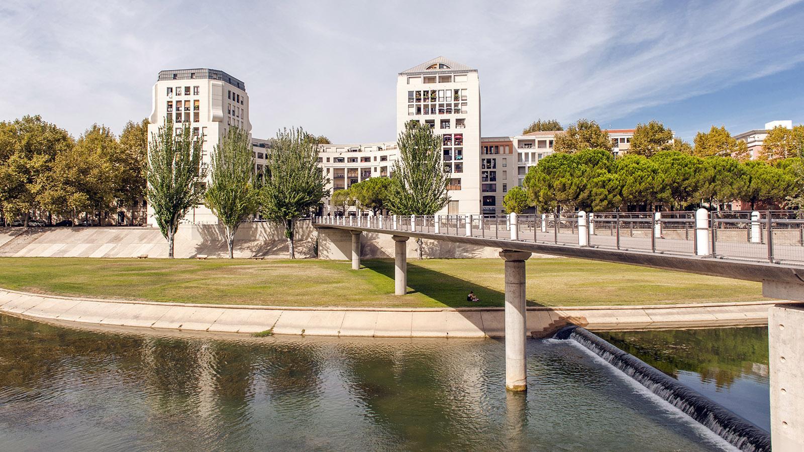 Montpellier: Am Ufer des Lez. Foto: Hilke Maunder