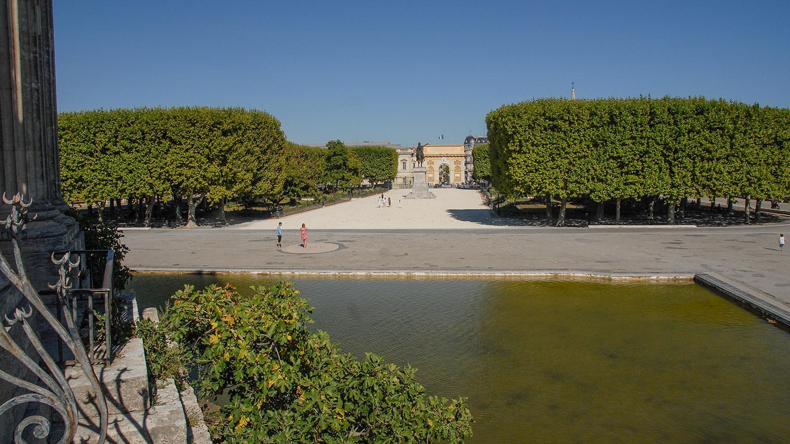 Montpellier: Promenade du Peyrou mit dem Arc de Triomphe. Foto: Hilke Maunder