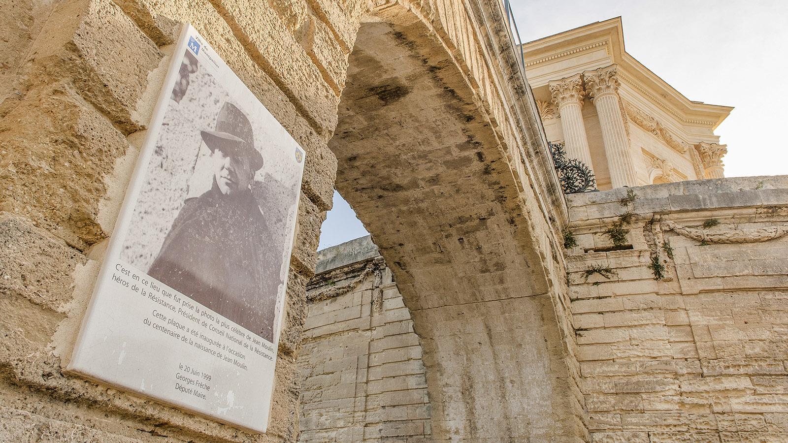 Montpellier: Gedenktafel für Georges Frêche. Foto: Hilke Maunder