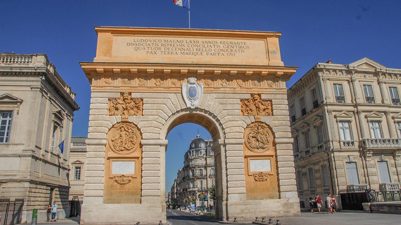 Der Arc de Triomphe von Montpellier. Foto: Hilke Maunder