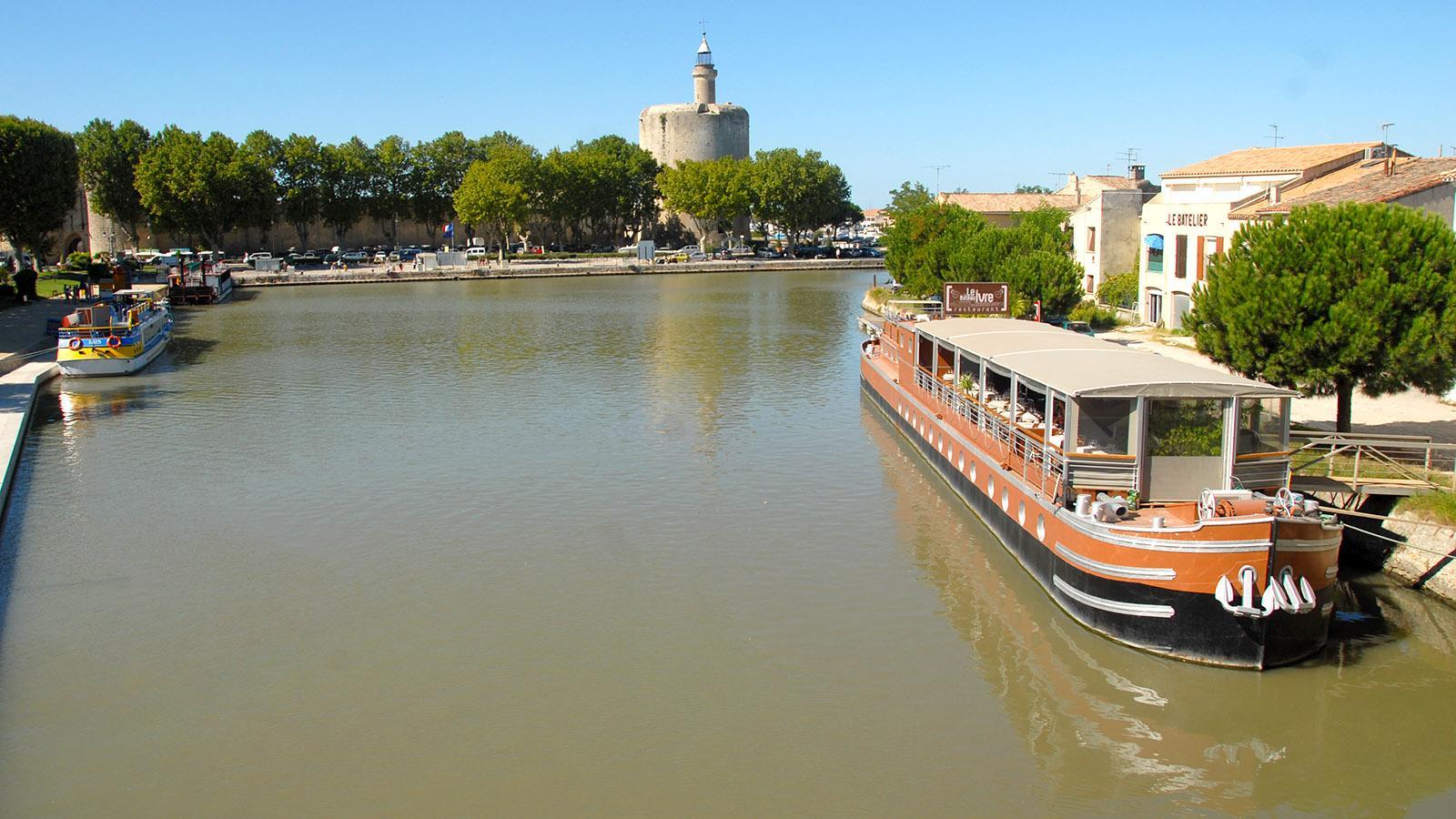 Aigues-Mortes mit seinem Hafen und der Tour Constance. Foto: Hilke Maunder