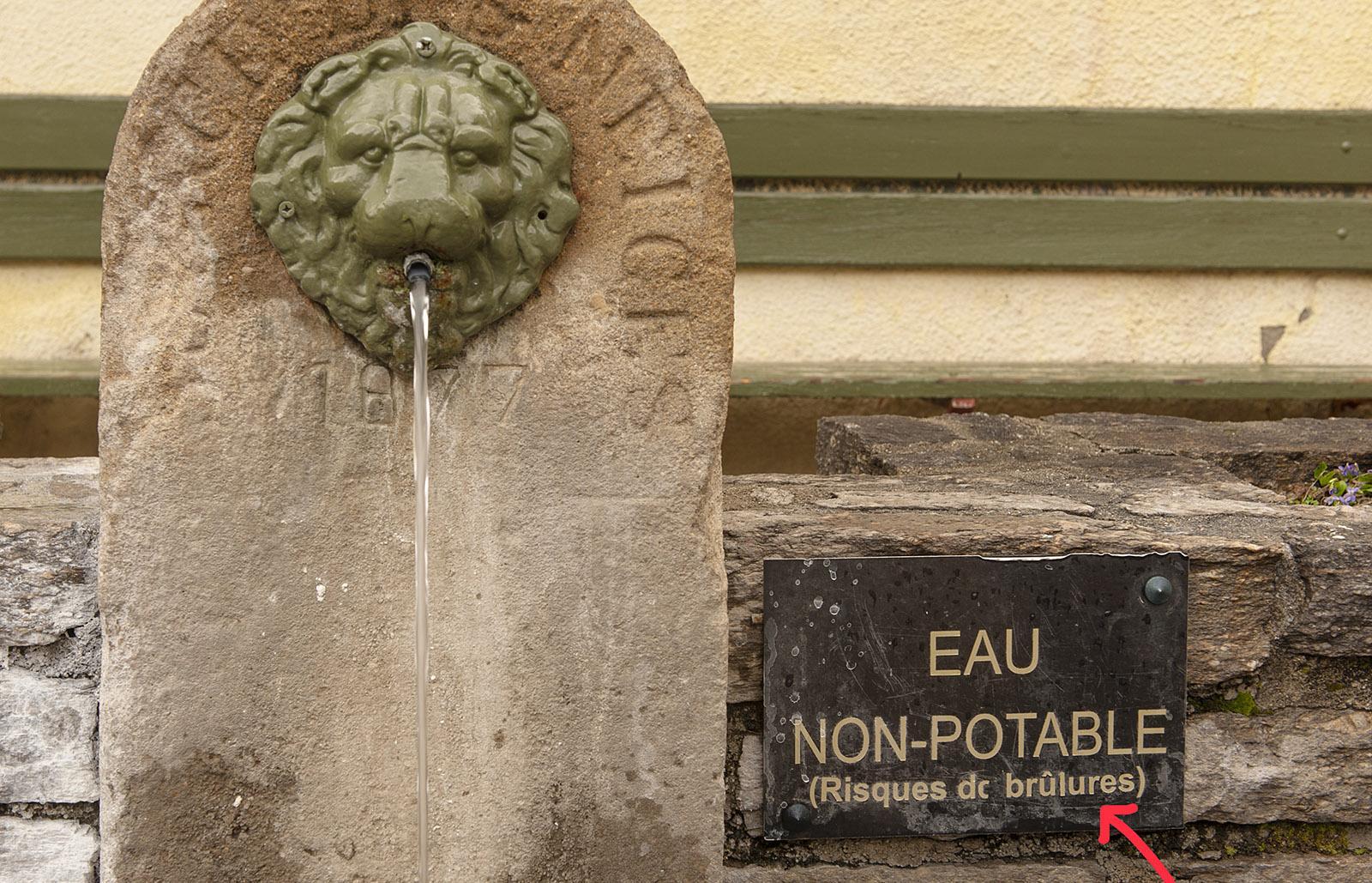 Richtig heiß ist das Wasser der Brunnen in Ax-les-Thermes. Foto: Hilke Maunder