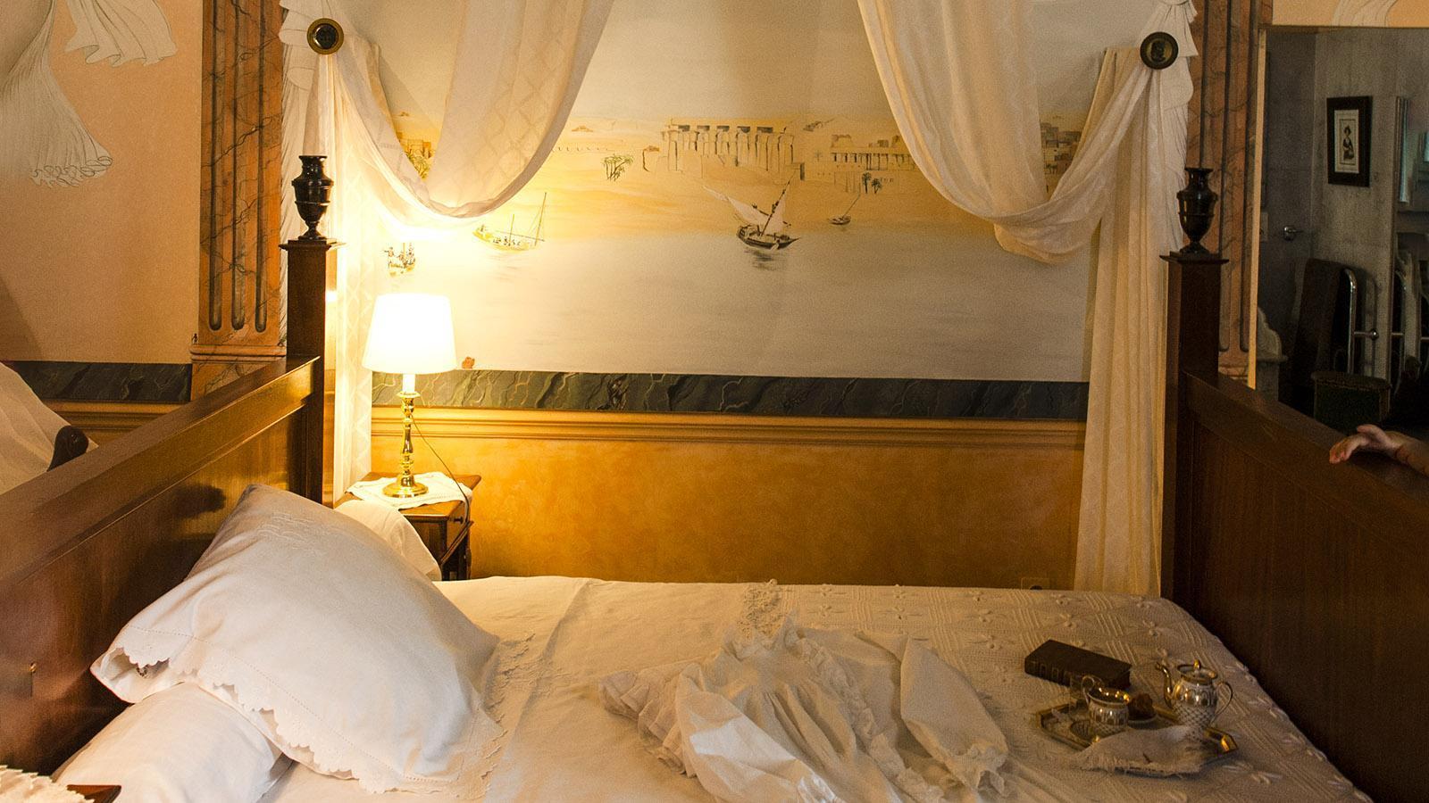 Château de Flaugergues: das Schlafzimmer