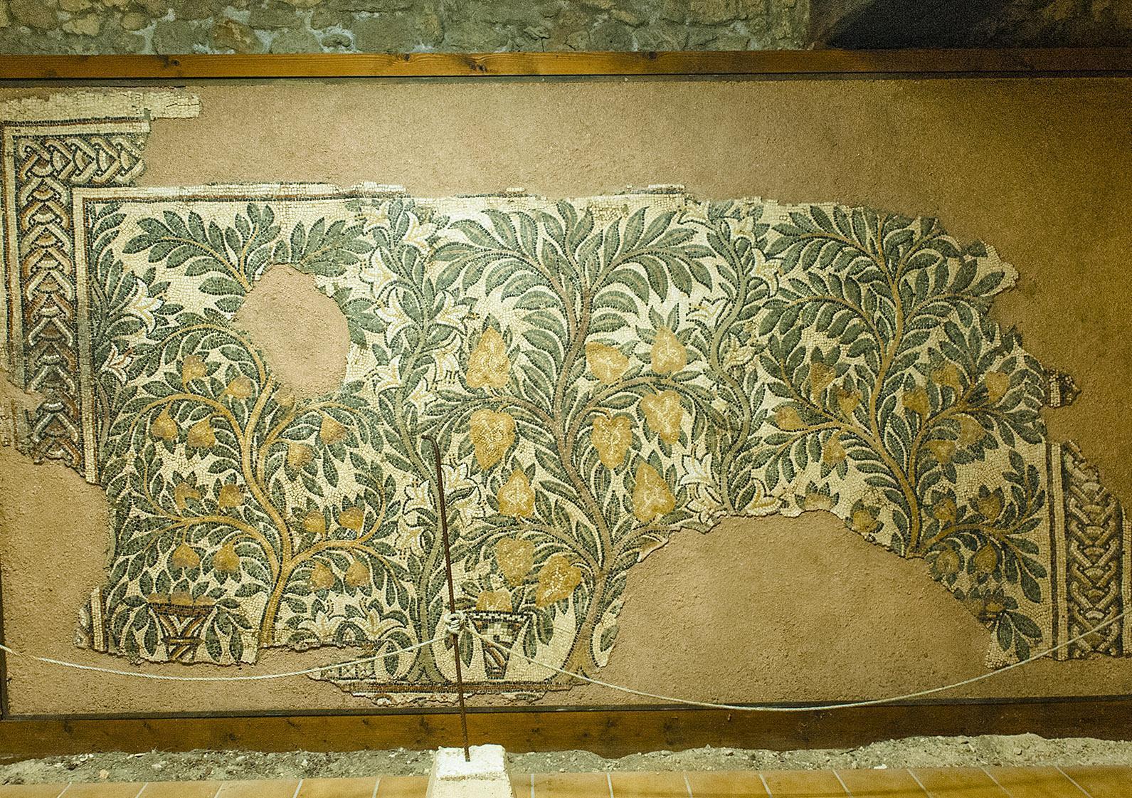 Bastide Montréal-du-Gers, Mosaik aus der gallorömischen Villa von Séviac. Foto: Hilke Maunder