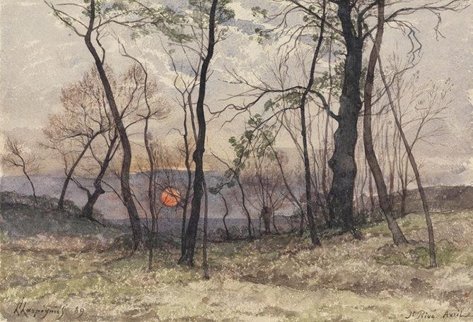 Henri Joseph Harpignies  Landschaft bei St. Privé, 1889  © Staatliche Kunsthalle Karlsruhe