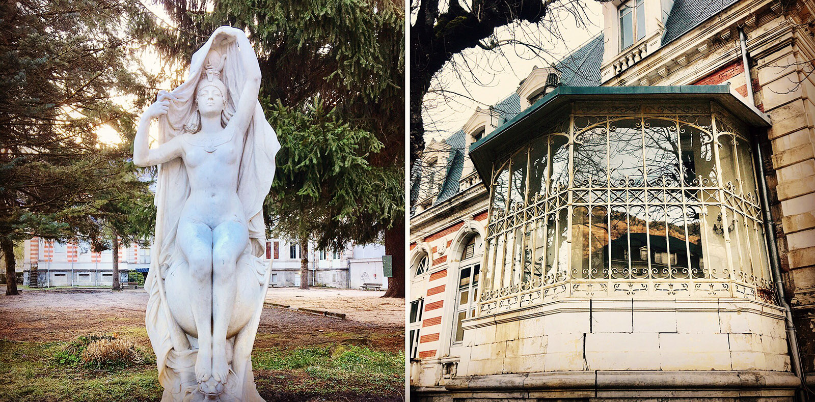 Luchoin besitzt noch ein reiches Erbe an Bäderarchitektur der Belle Époque. Foto: Hilke Maunder