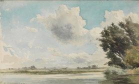 Théodore Rousseau  Am Ufer der Loire, 1850  © Staatliche Kunsthalle Karlsruhe