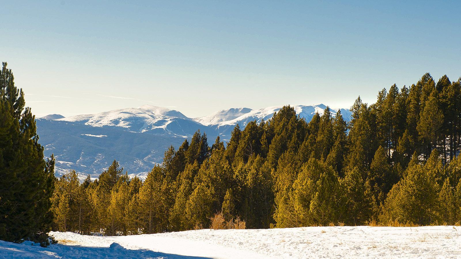 Pyrénées-Orientales: Bergblick gen Süden bei Les Airelles. Foto: Hilke Maunder