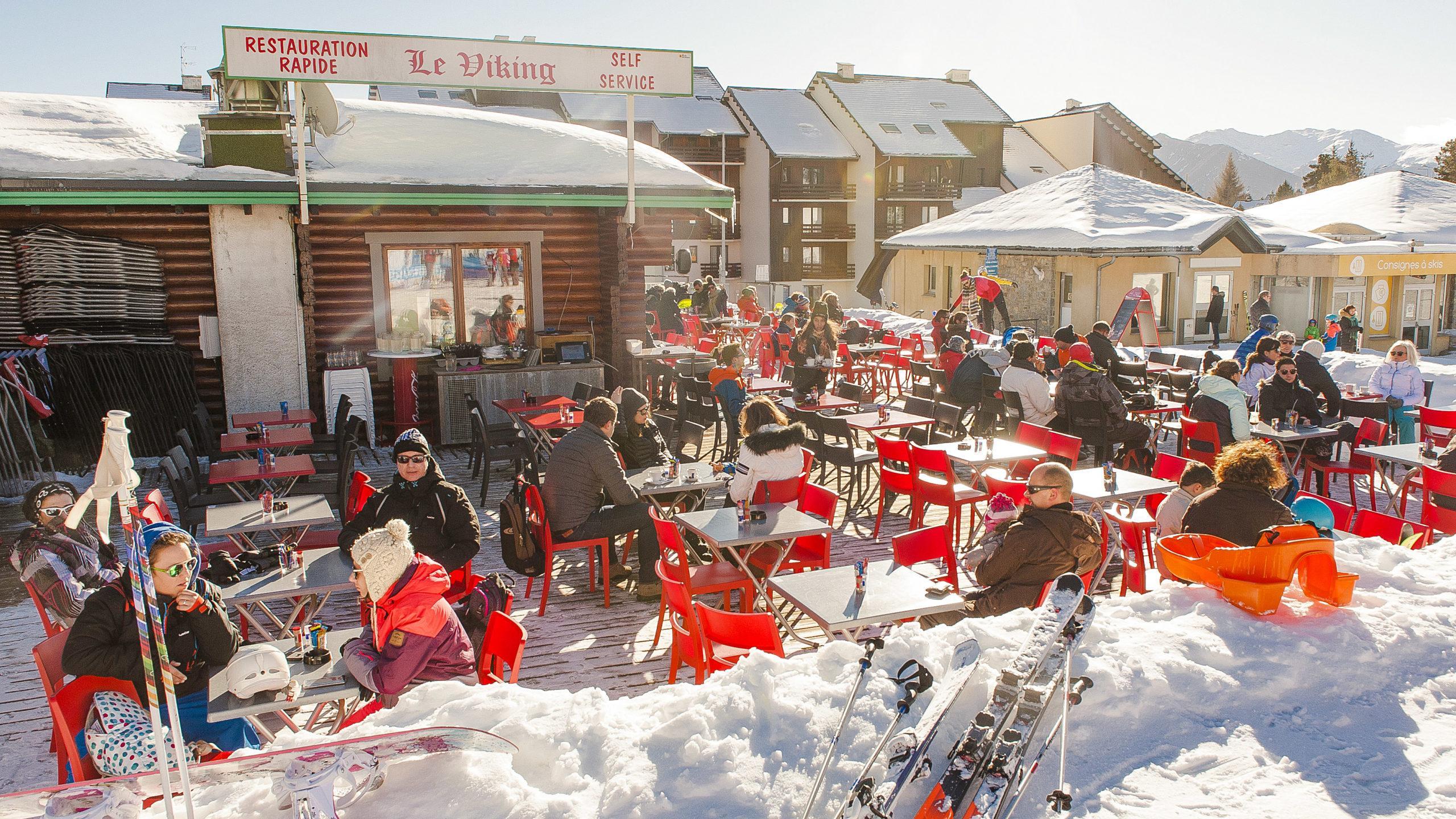 Pyrénées-Orientales: Le Viking - ein einfaches Lokal an der Talstation von Bolquère. Foto: Hilke Maunder