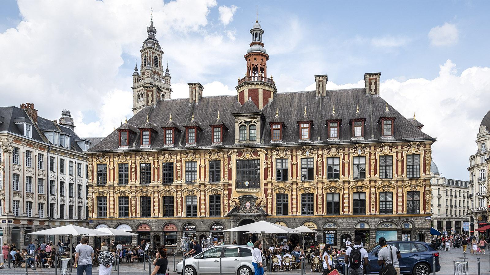 Die Börse an der Grande Place von Lille. Foto: Hilke Maunder