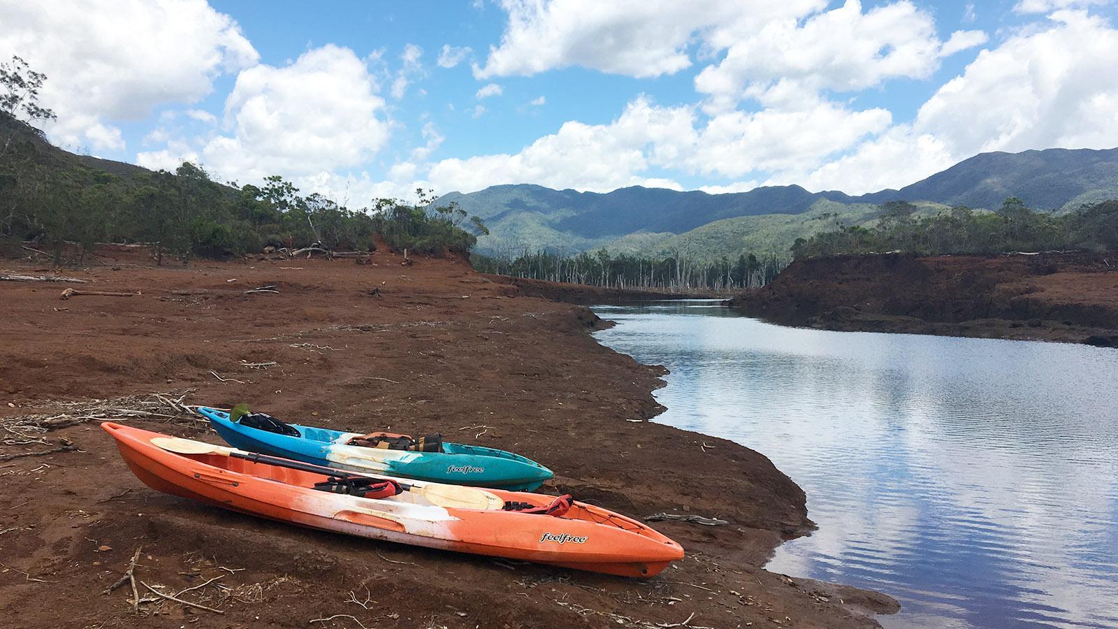 Rivière Bleue: Entdeckt den Blauen Fluss im Kanu! Foto: Hilke Maunder