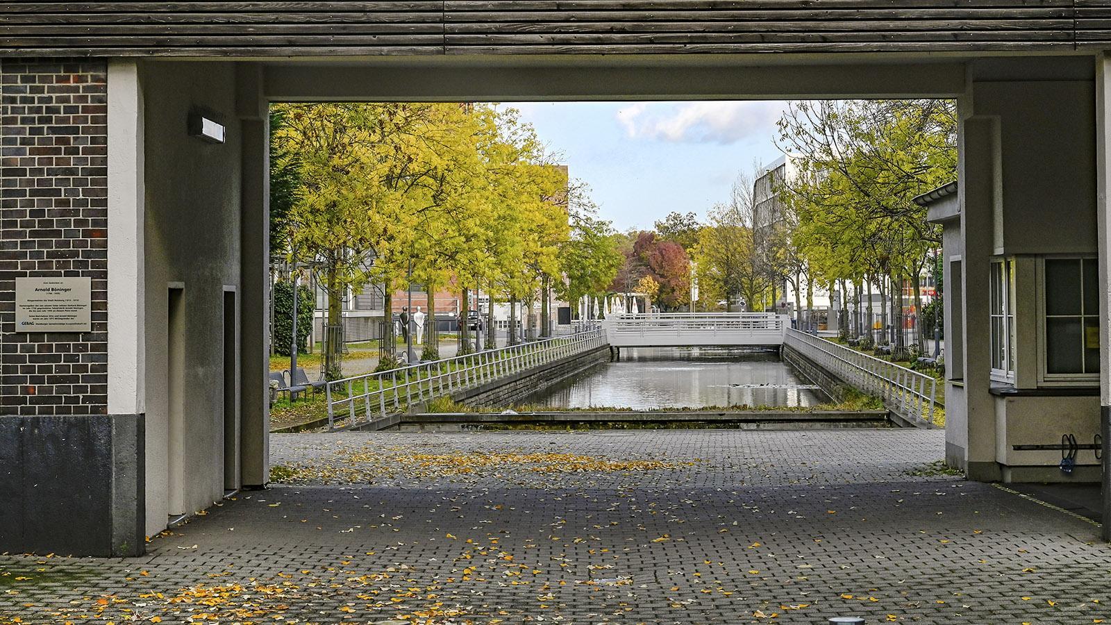 Duisburg: Das einstige Firmengelände von Böninger verwandelte sich in ein attraktives Wohngebiet. Foto: Hilke Maunder
