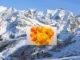 Les Contamines-Montjoie: Abfahrt mit Blick auf Mont Blanc. Danach schmeckt eine Soupe Savoyarde. Copyright: Hilke Maunder
