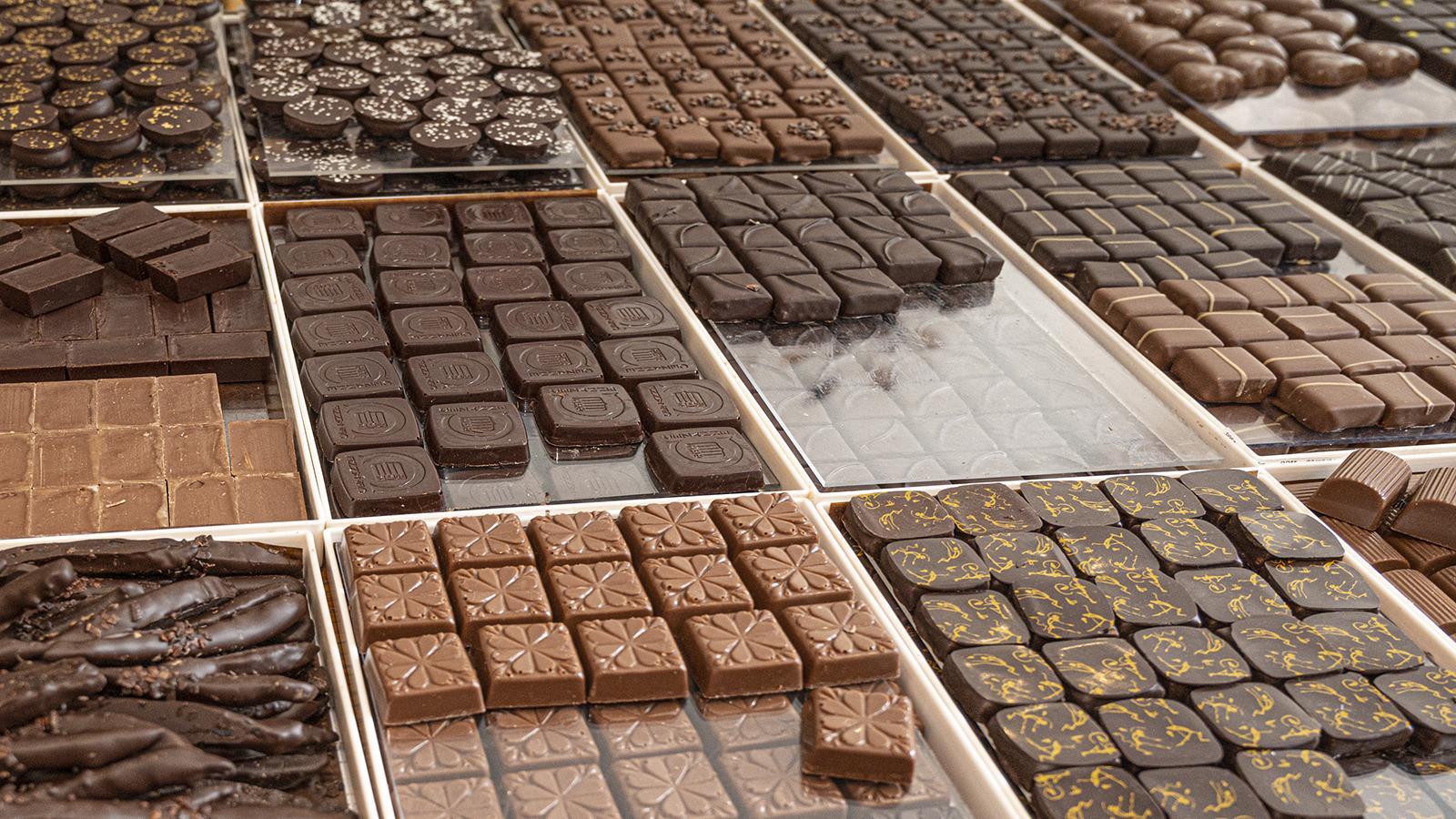 Verführung im Quadrat: die Schokolade von Puyricard. Foto: Hilke Maunder