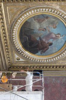 Le musée de Picardie, travaux de restauration, 9 octobre 2018.