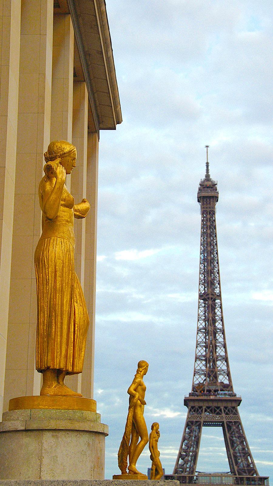 Der Eiffelturm, vom Trocadéro aus gesehen. Foto: Hilke Maunder