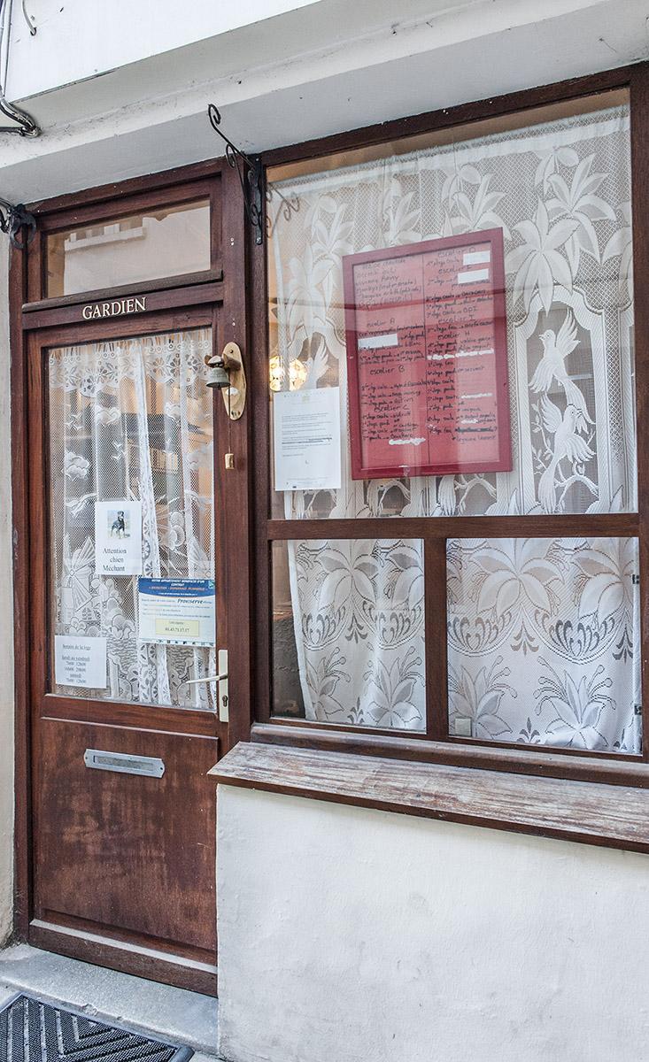 Die Hausmeisterwohnung eines Handwerkerhofes im Faubourg Saint-Antoine. Foto: Hilke Maunder