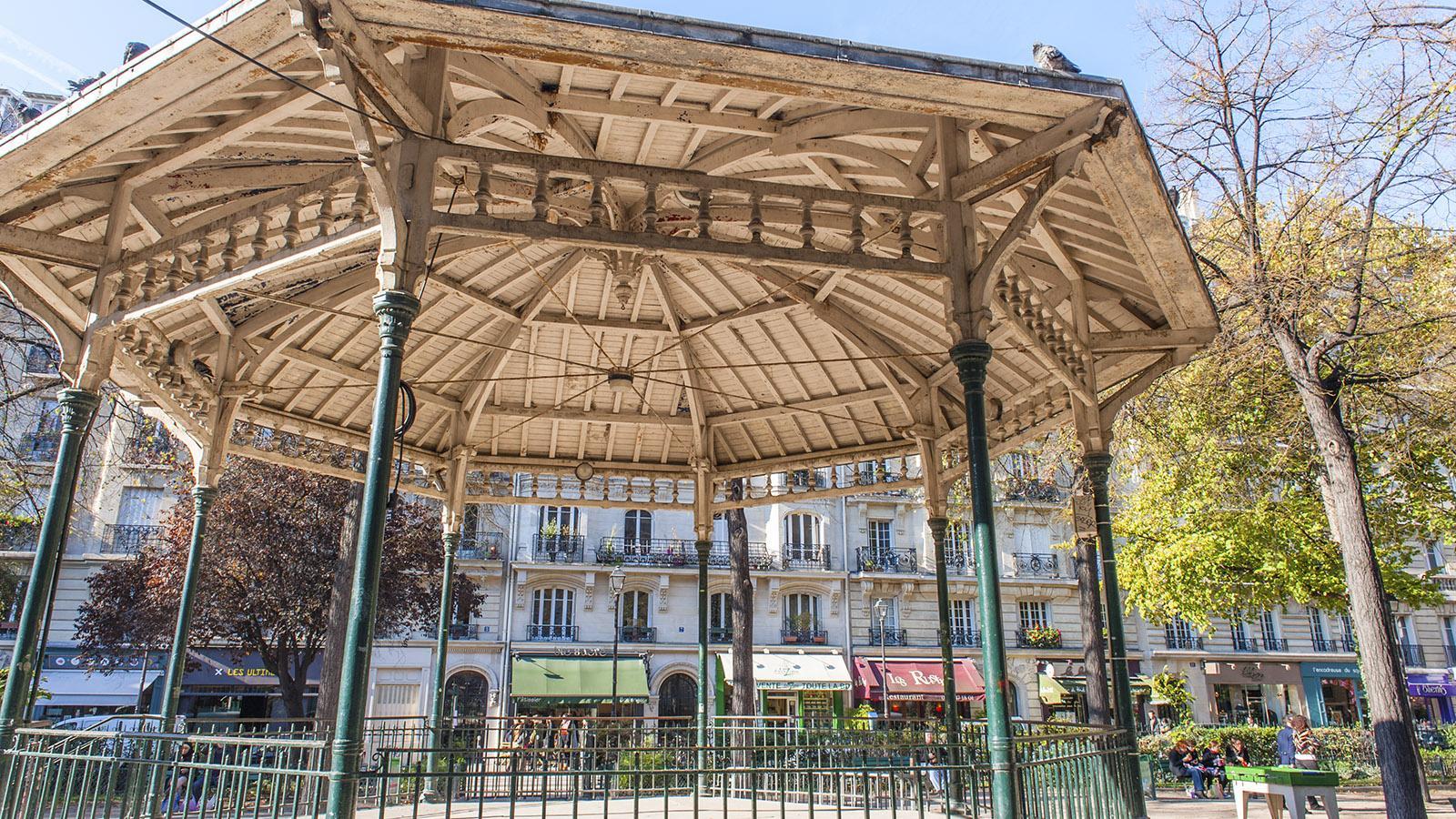 Faubourg Saint-Antoine: Musikpavillon am Square Trousseau. Foto: Hilke Maunder