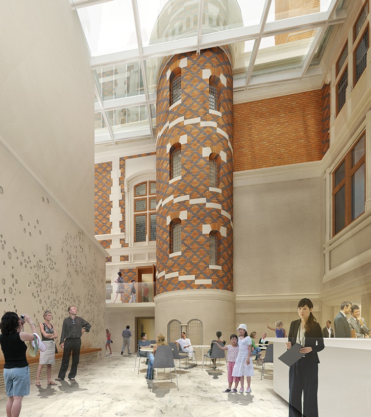 Architektonisches und neue Elemente verbinden sich spannungsreich bei der Citéco. Credits: Ateliers Lion Associé.