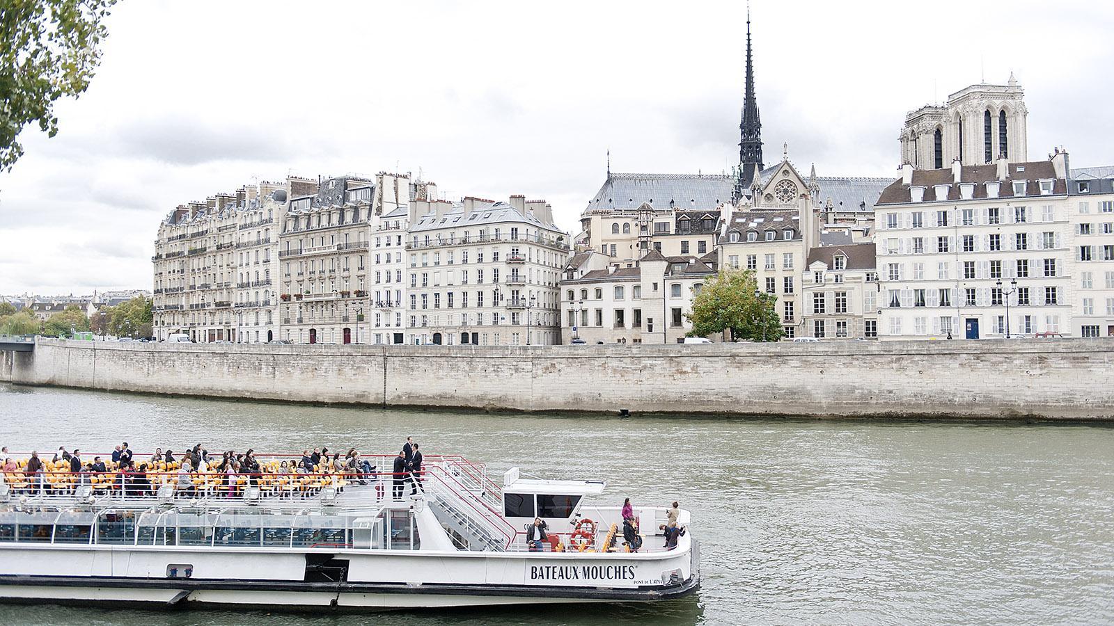 Die Île de la Cité und die Seine, gesehen vom Nordufer. Foto: Hilke Maunder