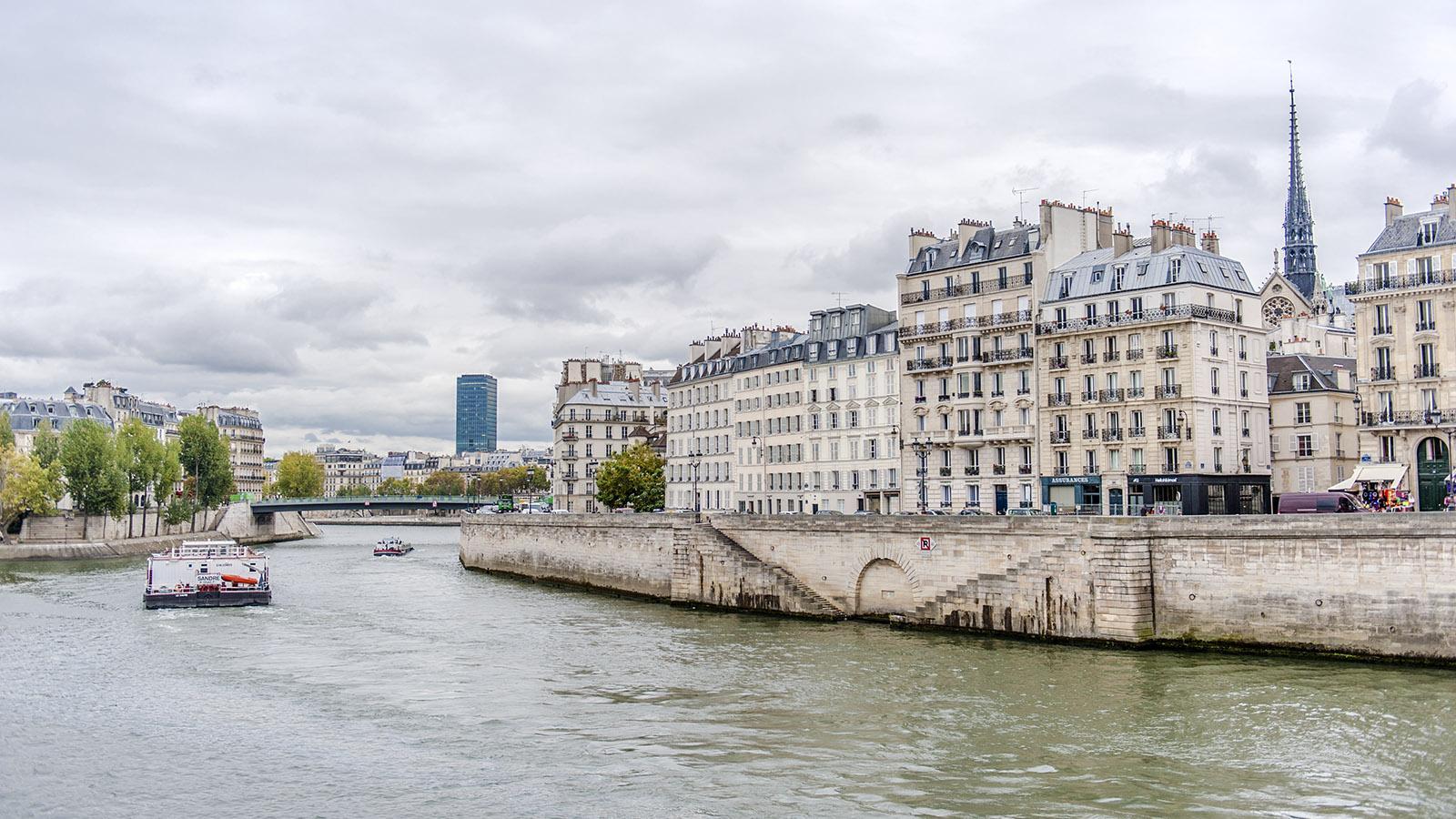 Die Île de la Cité von der Rive Gauche aus. Foto: Hilke Maunder