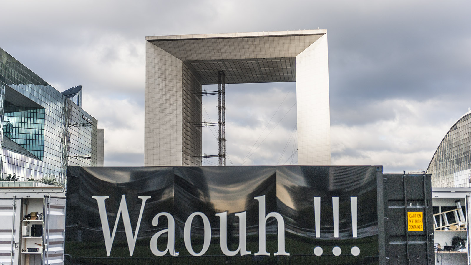 Die Grande Arche von La Défense während der Bauarbeiten. Foto: Hilke Maunder