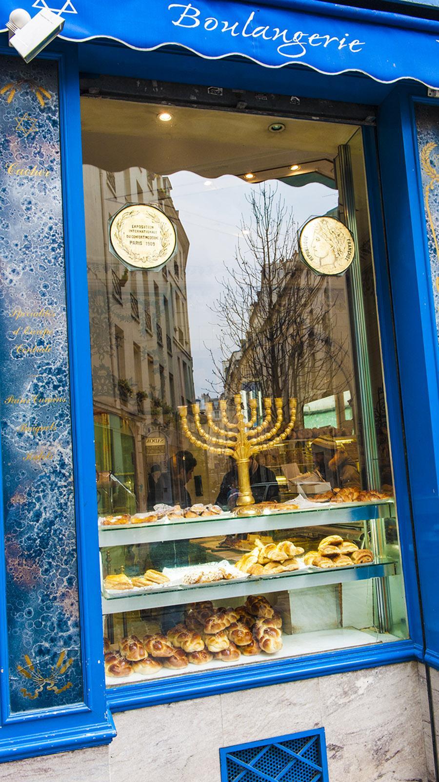 Lebenskultur der Juden schmeckt: eine Bäckerei im Marais. Foto: Hilke Maunder