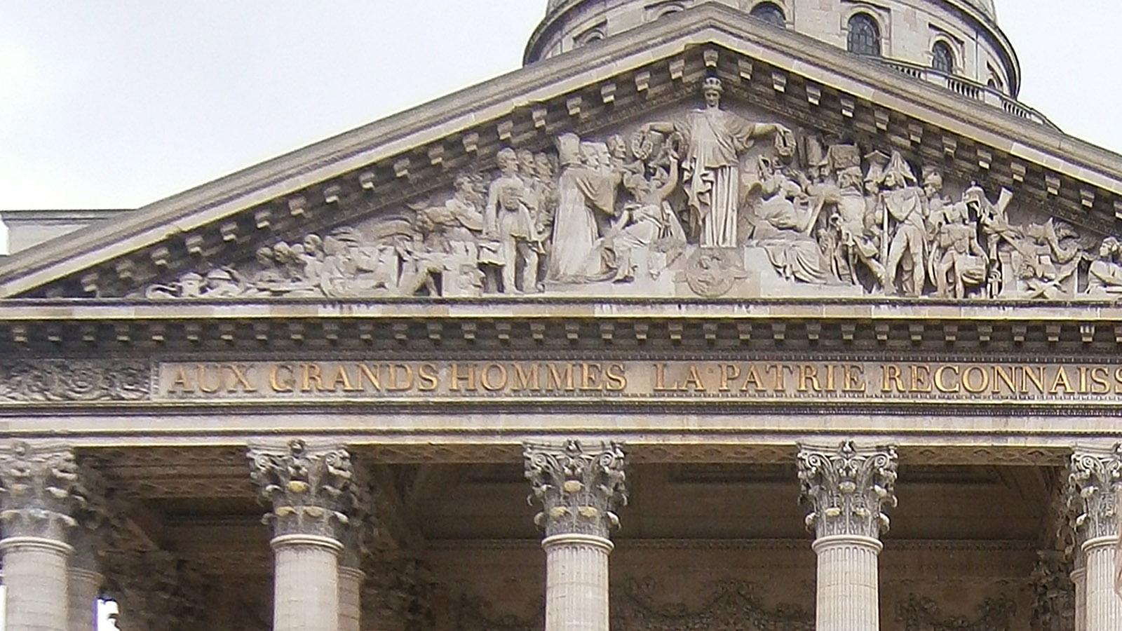 Der Giebelfries des Pariser Pantheons. Foto: Hilke Maunder