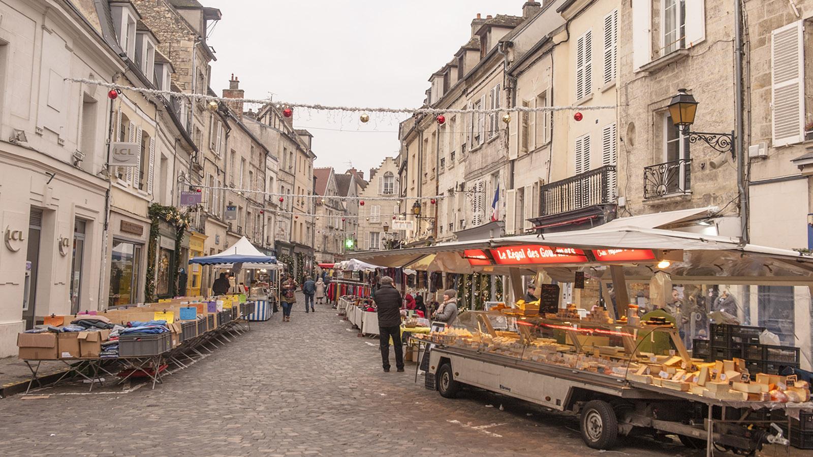 Markt in Senlis. Foto: Hilke Maunder