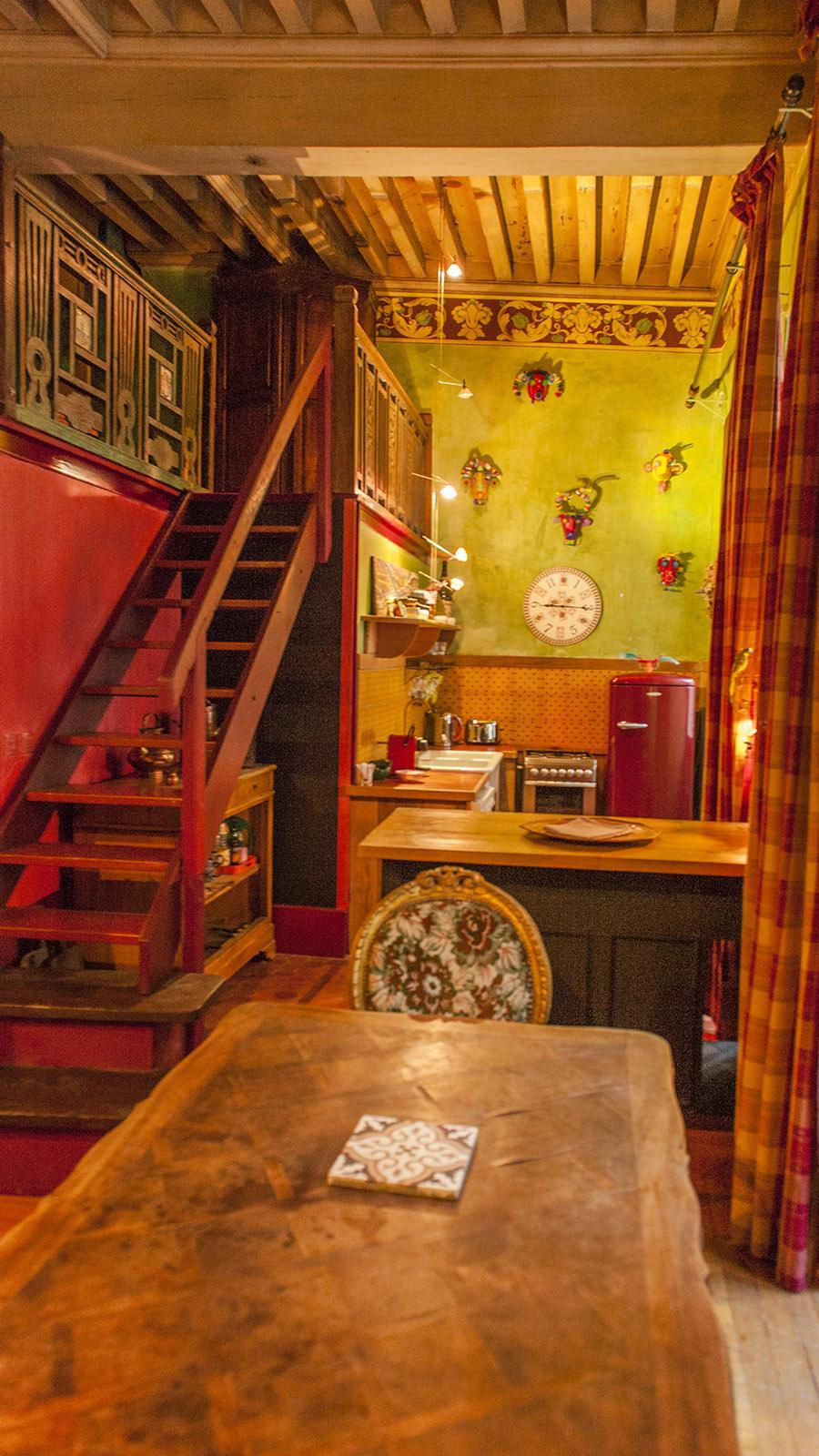 Die Küche der Ferienwohnung der Maison Fogasses. Foto: Hilke Maunder
