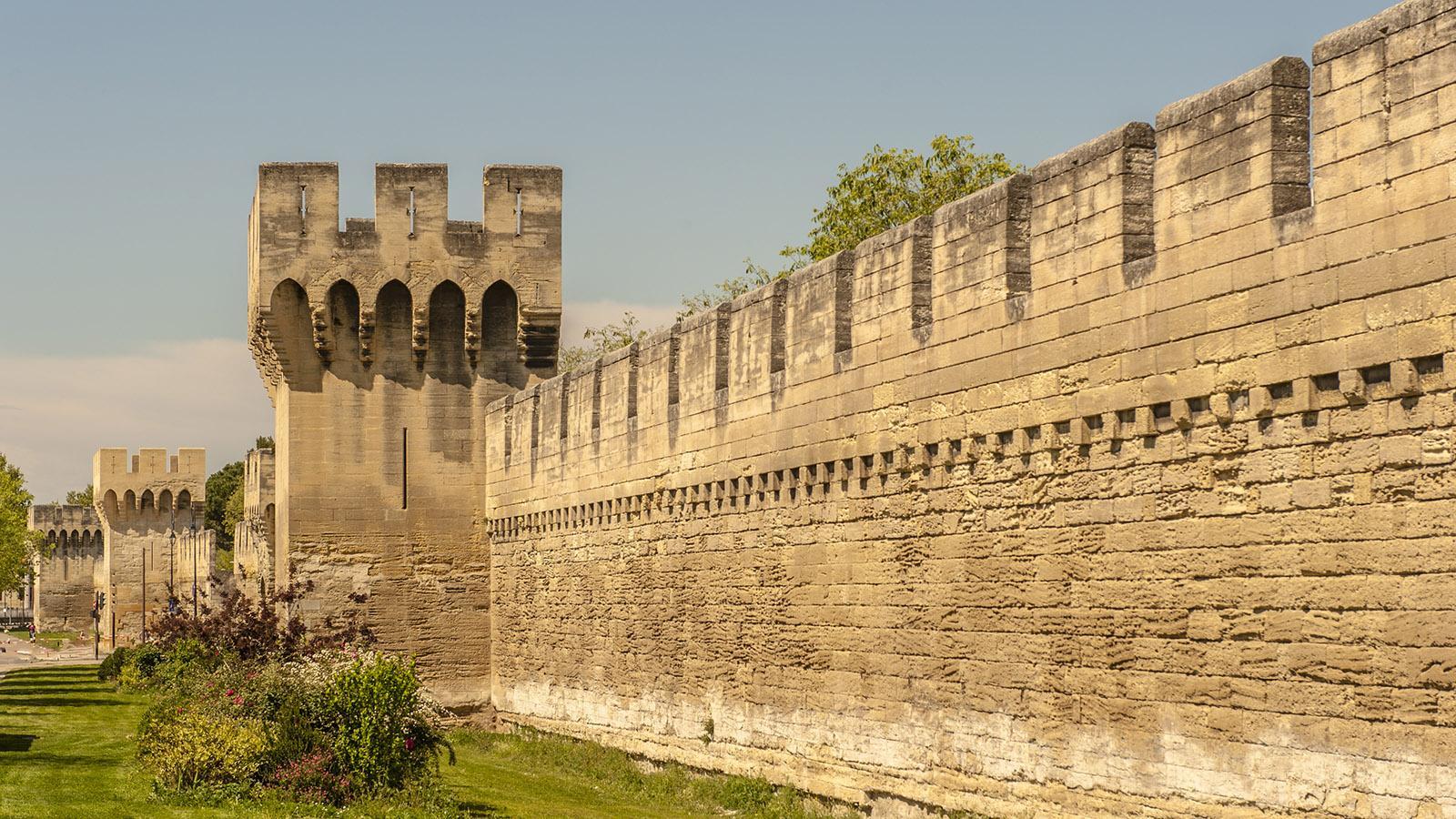 Eine 4,5 km lange Stadtmauer umschließt bis heute fast vollständig die Altstadt von Avignon. Foto: Hilke Maunder