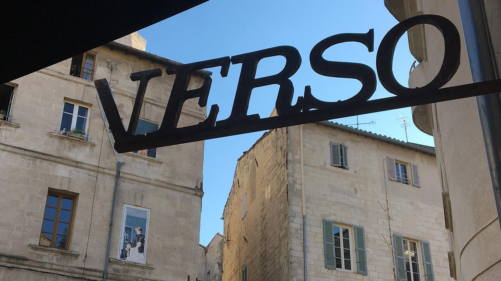 "Restaurants in Avignon. Kult an der Place Saboly 3: das ""Verso"". Foto: Hilke Maunder"