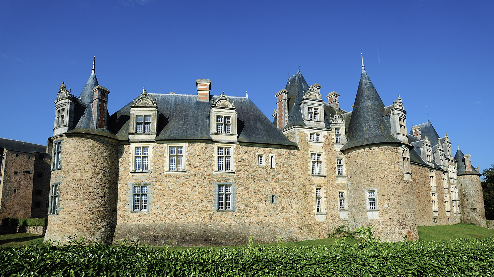 Das Burgschloss von Châteaubriant. Copyright: CRT Bretagne/Yannick Le Gal