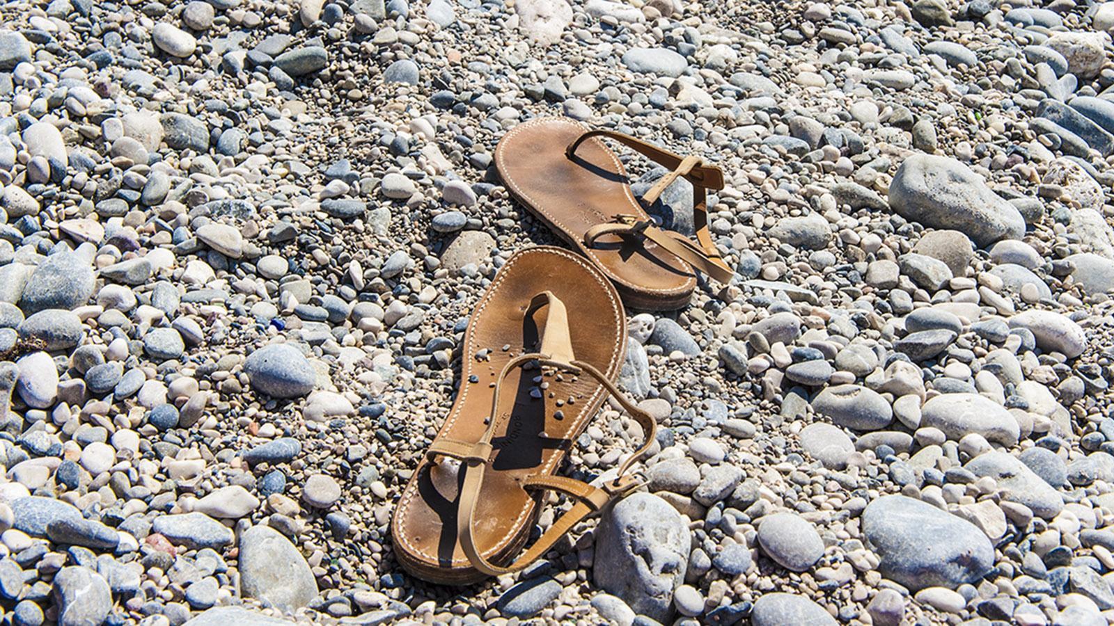 Sandalenklassiker aus Saint-Tropez: die Tropeziannes von Rondini. Foto: Hilke Maunder