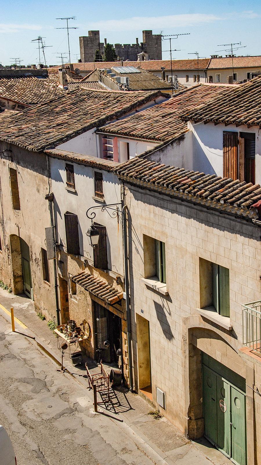 Blick von der nördlichen Stadtmauer auf die Altstadt mit Trödlershop. Foto: Hilke Maunder