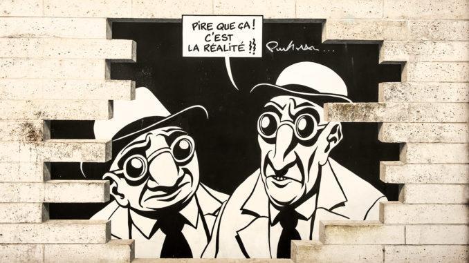Angoulême: Street Art im Comic-Stil schmückt die Wände der Stadt. Foto: Hilke Maunder