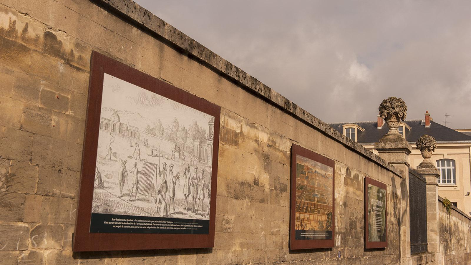 Auf seinen Mauern erzählt der Potager du Roi seine Geschichte. Foto: Hilke Maunder