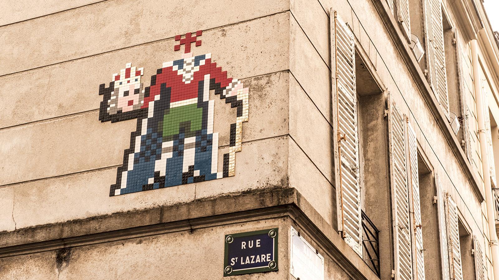 Der enthauptete König: Die Street Art von Versailles beweist Geschichtssinn. Foto: Hilke Maunder