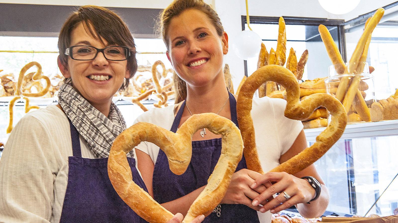 Großes Herz: Bäckerinnen in Avignon. Foto: Hilke Maunder
