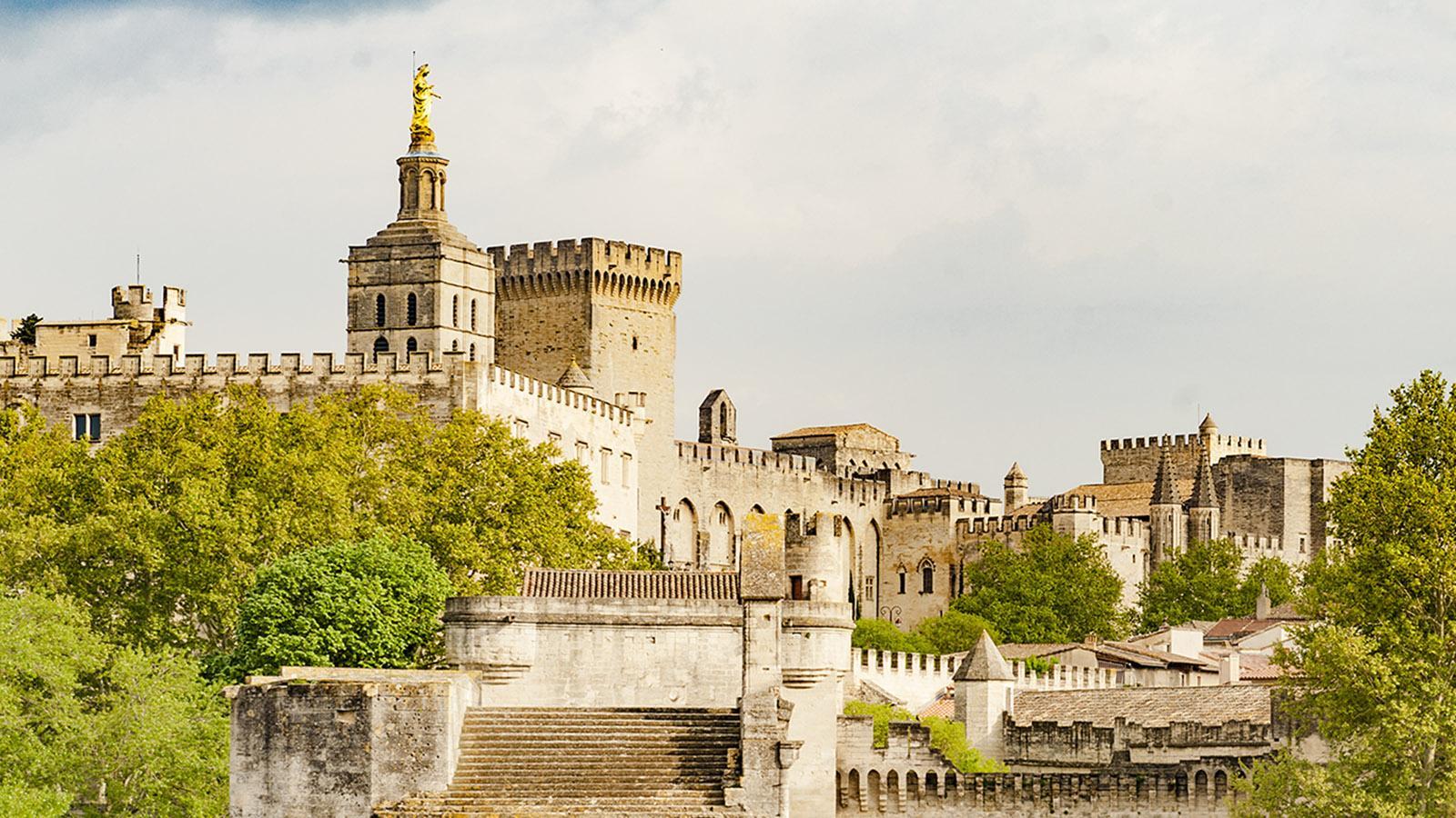 Flusskreuzfahrten. Avignon: Skyline von der Rhône aus. Foto: Hilke Maunder